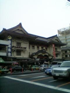 これから歌舞伎座。